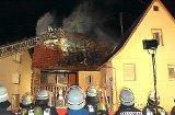 Dachstuhl in Börstingen steht in Flammen