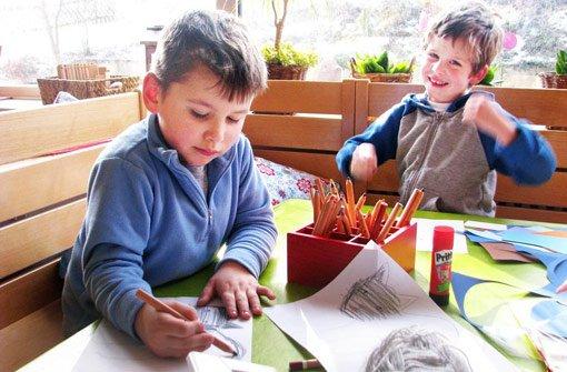 Malen, spielen, bauen: In der Kita Leo in Truchtelfingen spielen Kinder mit und ohne Behinderung gemeinsam. Foto: Westhauser