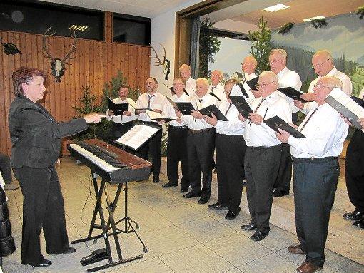 Starke Murgtäler Stimmen bekamen die Gäste beim Jahreskonzert des Männergesangvereins zu hören.  Foto: Braun Foto: Schwarzwälder-Bote
