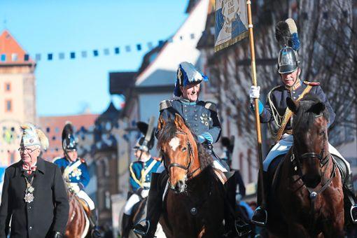 Die Kavalleristen verfügen über ein kontinuierliches Training und haben eine intensive  Vertrauensbasis zu ihren Tieren.  Foto: Archiv-Foto: Eich