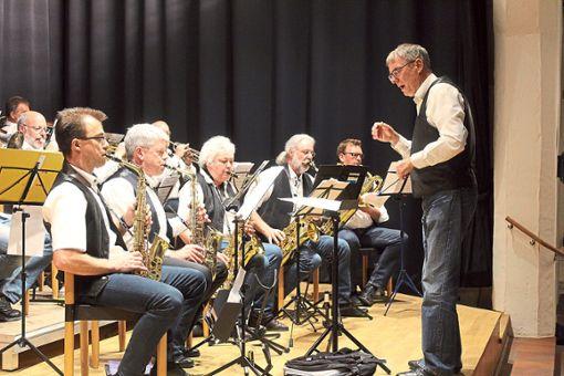 Die Big-Band Originals Back spielt bei der Kulturnacht in der Zehntscheuer.  Foto: Baum Foto: Schwarzwälder Bote