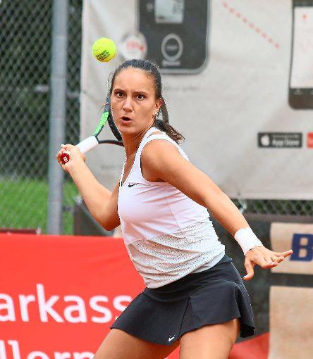Nicoleta-Catalina Dascalu hatte im Tiebreak zweimal das bessere Ende für sich.   Foto: Kara