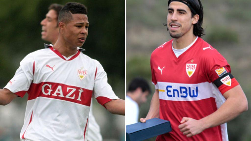 Khedira Und Gnabry Ex Vfb Stuttgart Spieler Bei Borussia Dortmund Im Gesprach Sport Schwarzwalder Bote
