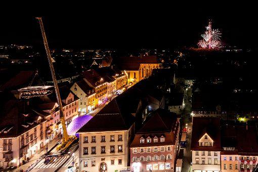 Rottweil erlebte eine gigantische Show zum Fest der Türme. Foto: ThyssenKrupp