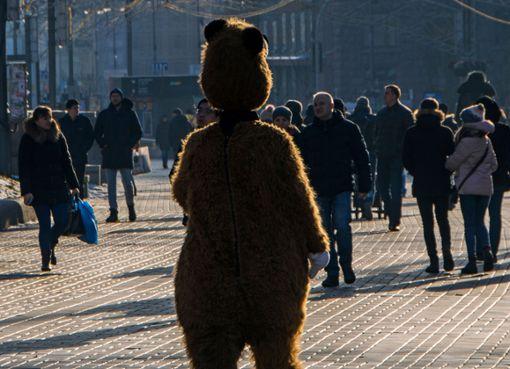 Der Mann trug ein Bärenkostüm. i(Achtung: Bei diesem Bild handelt es sich um ein Symbolfoto!)/i Foto: Artem Avetisyan/ Shutterstock
