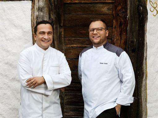 Die Köche Torsten Michel (links) und Florian Stolte Foto: Traube Tonbach