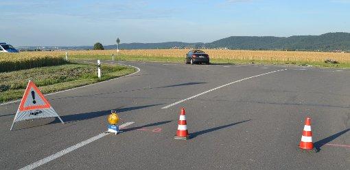 Nach einem schweren Unfall zwischen Kastell und Wittershausen am Donnerstagabend ist ein 42-jähriger Motorradfahrer im Krankenhaus seinen schweren Verletzungen erlegen. Foto: Heidepriem