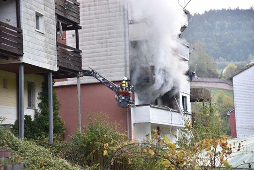 In Schramberg hat es in einem Wohnhaus gebrannt. Foto: Wegner