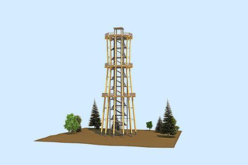 Der Turm wird insgesamt rund 2,5 Millionen Euro kosten. Foto: Ingenieurbüro Braun