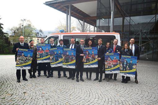 Die Organisatoren und Beteiligten des Blaulichttages freuen sich auf eine gemeinsame Präsentation der Hilfs- und Rettungsorganisationen im Landkreis.   Foto: Eich Foto: Schwarzwälder Bote