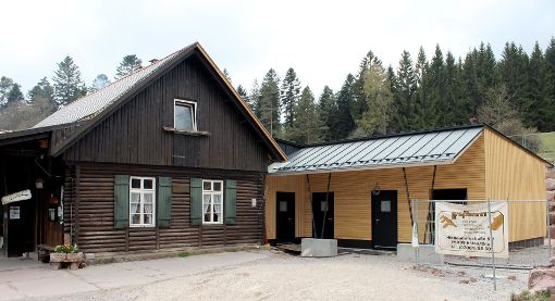 Nach der Sanierung ist die Grünhütte inklusive Anbau sogar erdbebensicher. Foto: Archiv