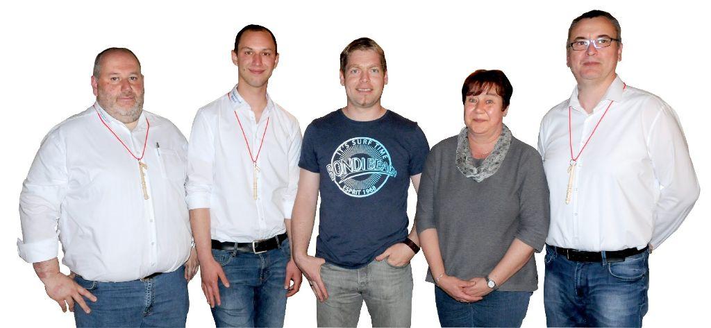 Der Vorstand mit Karl-Josef Glück, Jonas Preuss, Günter Jauch, Annette Müller und der verabschiedete Michael Koch. Foto: Schwarzwälder-Bote