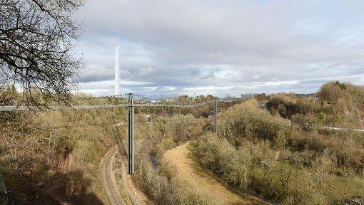 Vom Bockshof aufs Berner Feld soll die Neckar Line führen. Foto:  Visualisierung: Eberhardt