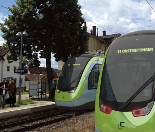 Noch ist sie ein Traum: die Regionalstadtbahn Neckar-Alb. Mit dem Bau der großen Wendlinger Kurve, an dessen Finanzierung sich vermutlich auch der Landkreis beteiligen wird, kommt man dem Jahrhundertprojekt deutlich näher.  Foto: TriCon Design AG
