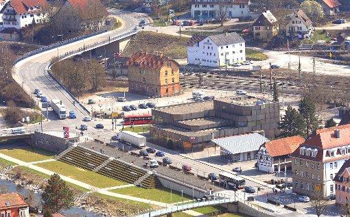 Blick auf das ehemalige Postareal: Der Investor Sepa-Activ präsentiert der Öffentlichkeit  am 4. Februar seine Planungen für die Neckargalerie. Foto: Archiv-Foto: Hopp