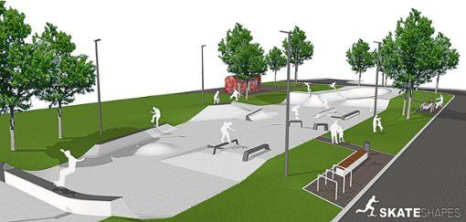 Baubeginn könnte Mitte Mai sein, die Fertigstellung des Parks voraussichtlich noch vor den Sommerferien.  Foto: Christian Thomas