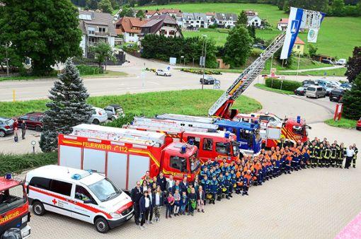 Drei Jugendrettungsorganisationen arbeiteten bei einer großen Übung Hand in Hand.   Foto: Feuerwehr Foto: Schwarzwälder Bote