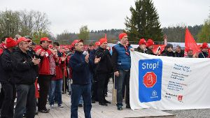 IG Metall: Protest am Test-Turm