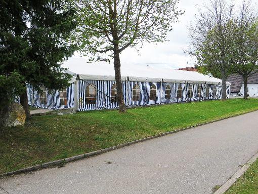 Der Musikverein Hartheim hat sich ein gebrauchtes Festzelt angeschafft.  Foto: Kirschbaum Foto: Schwarzwälder-Bote