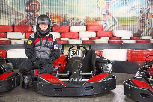 Alexander aus Engstlatt ist begeisterter Kartfahrer. Foto: Schwarzwälder Bote