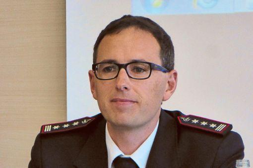 Feuerwehr-Kommandant Daniel Nuding.   Foto: M. Bernklau Foto: Schwarzwälder Bote