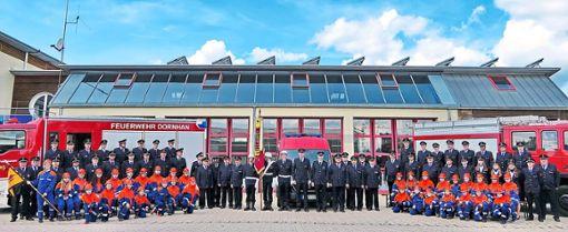 Die Dornhaner Wehr und die Jugendfeuerwehr bereiten sich auf das große Jubiläum vor.  Foto: Feuerwehr Foto: Schwarzwälder Bote