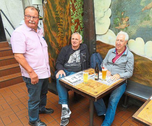 Heinz Umbeer (von links),  Gerhard Berger und Klaus Ziegler nahmen ebenfalls an dem Ausflug teil.   Foto: Privat Foto: Schwarzwälder Bote