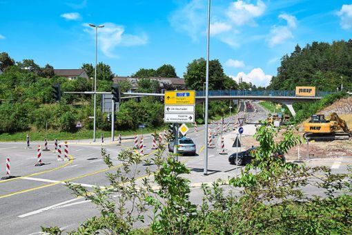 Der erste Bauabschnitt an der B 295 wird bald abgeschlossen. Am Ende wird die Straße zwei Tage lang voll gesperrt. Foto: Rousek