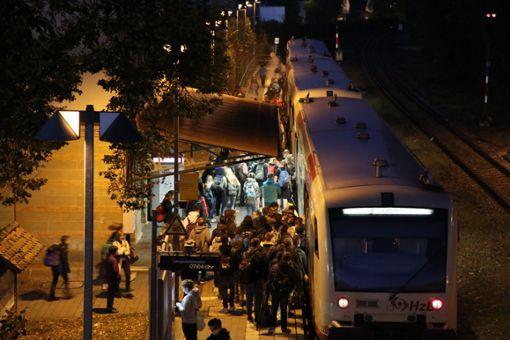 Zugverspätungen bis zu zehn Minuten: Gerade benötigen die Züge der Südwestdeutschen Landesverkehrs-Aktiengesellschaft (SWEG) im Kinzigtal oftmals länger, als in den Fahrplänen für die Strecken vorgesehen ist.   Foto: Kauffmann