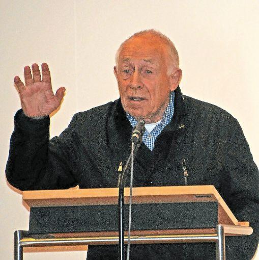 Vor fünf Jahren sprach Heiner Geißler zuletzt offiziell in seiner Geburtsstadt –  in der evangelischen  Stadtkirche. Foto: Wolf
