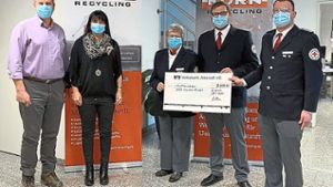 Albstadt: Korn Recycling spendet 5000 Euro an DRK Ebingen