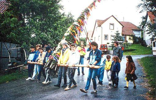 In Streichen wird die Tradition des Pfingstbutz' wachgehalten.   Foto: Privat Foto: Schwarzwälder Bote