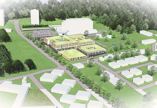 So soll das  Krankenhaus Freudenstadt nach dem  großen Umbau aussehen.    Foto: Skizze: Ingenieurbüro Vogt