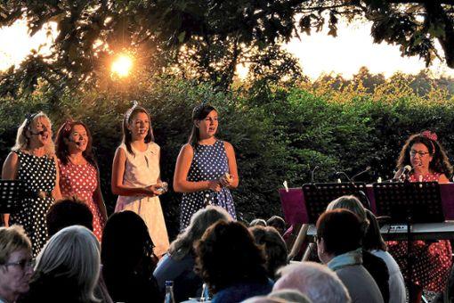 Die Band Stimm3 trat im Biergarten des Bad Teinach-Zavelsteiner Wanderheims auf und begeisterte das Publikum.  Foto: Ketterle Foto: Schwarzwälder Bote
