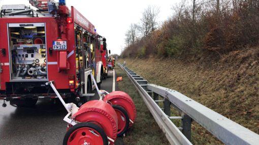 Ein schwerer Unfall nahe Winterlingen hat ein Todesopfer gefordert. Foto: Nölke