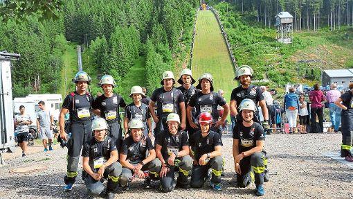 Die Teilnehmer der Schramberger Feuerwehr beim Red Bull 400 in Neustadt. Foto: Frei