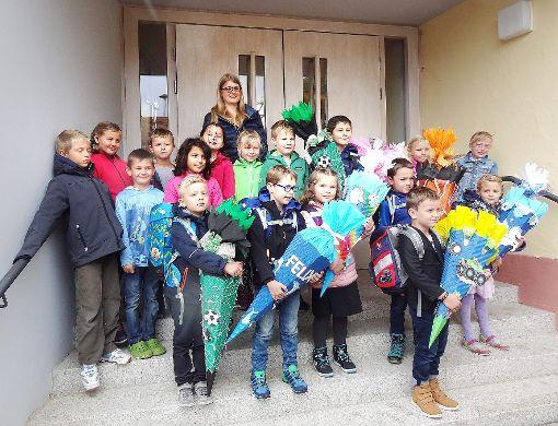 Klasse1, Achert-Grundschule Beffendorf, mit Anna Himmelsbach. Foto: Privat