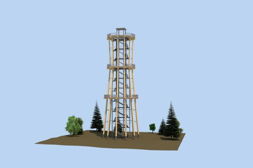 Die Gemeinde Schömberg will einen Aussichtsturm bauen. Foto: Ingenieurbüro Braun