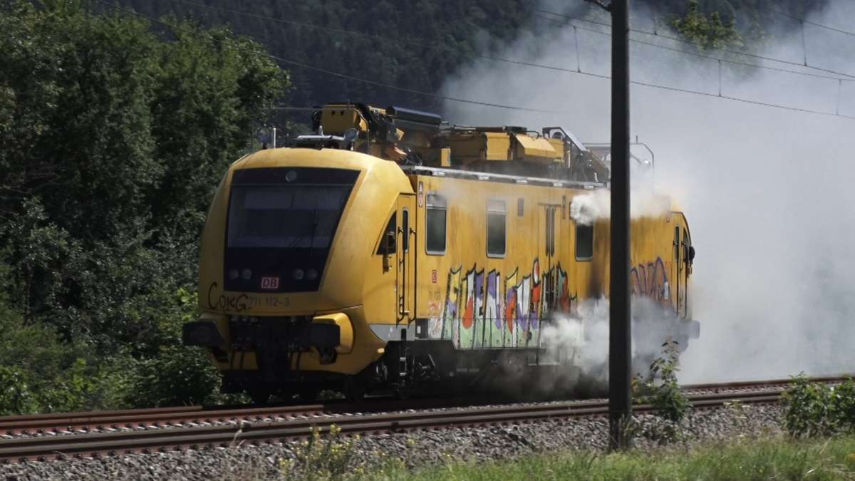 Brennender Zug