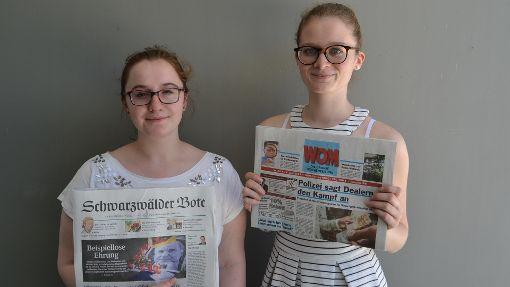 Jessica Stefanelli und Corinna Hoffmann, Auszubildende bei der Schwarzwälder Bote Mediengesellschaft mbH Foto: Corinna Hoffmann