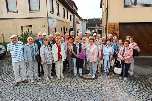Ihren Jubiläumsausflug unternahm der Eutinger Jahrgang 1936/37 mit dem Jahrgang 1934/35 von Eutingen in Richtung Bad Dürrheim und Blumberg.   Foto: Feinler Foto: Schwarzwälder Bote