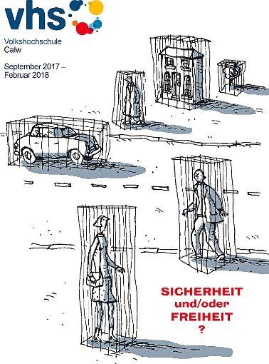 Das Titelbild des vhs-Programmhefts wurde von dem britischen Cartoonisten Steven Appleby gestaltet, der für namhafte Blätter wie The Guardian, The Times oder Die Zeit arbeitet.   Foto: vhs Foto: Schwarzwälder-Bote