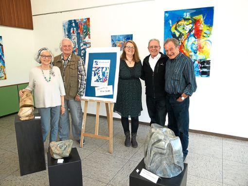 Der harte Kern des Künstlertreffs Bad Herrenalb (von links): Doria Hauser, Horst Kottwitz, Renate Gößmann, Michael Hoppe und Wolfram Böttle.  Foto: Glaser Foto: Schwarzwälder Bote