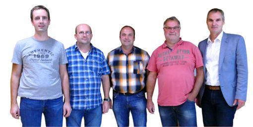 Die Mitglieder des Bezirksbeirats Busenweiler mit (von links): Andreas Faigle, Matthias Becker, Ralf Reich, Albert Müller und Bürgermeister Markus Huber.  Foto: Stöhr Foto: Schwarzwälder Bote