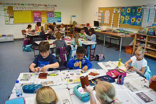 Die Grundschüler waren mit großem Engagement bei der Sache.   Foto: Bantle Foto: Schwarzwälder Bote