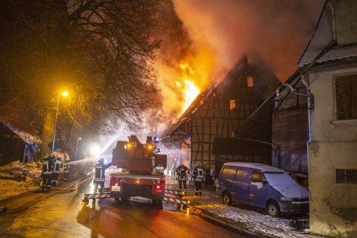 Bei Neustetten im Kreis Tübingen hat es gebrannt. Foto: 7aktuell.de