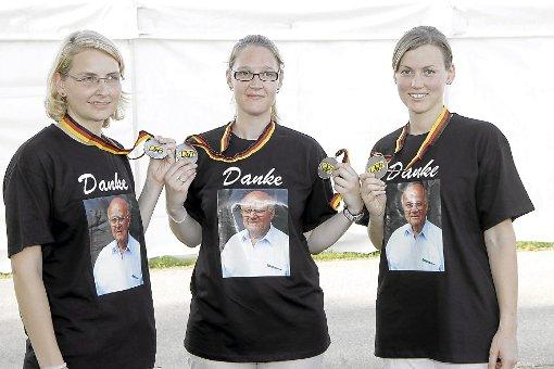 Beate Gauß, Katja Braun und Jenny Müller streben bei der deutschen Meisterschaft in München erneut nach Edelmetall.    Foto: Kraushaar Foto: Schwarzwälder-Bote