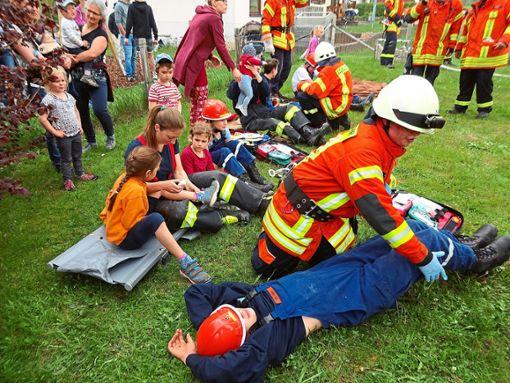 Bei der Übung konnten alle 16 Verletzten gerettet werden.  Foto: Feuerwehr Foto: Schwarzwälder Bote