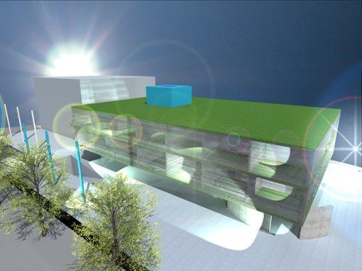 Diese Entwurfsvariante für ein Hotel auf dem Wöhrd in der Oberstadt wurde im Gremium von Architekt  Andreas Graziadei vorgestellt. Für den Vorschlag des Oberndorfer Investors Alexander Hopf zu einer  Wohnbebauung auf dem Wöhrd wurde unserer Zeitung  die Entwurfsskizze nicht zur Veröffentlichung  zur Verfügung gestellt. Foto: Büro Architektur Graziadei