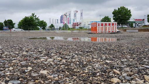 Nichts geht auf der KFC-Baustelle in Villingen-Schwenningen. Foto: (nk)